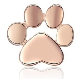 Jewelry - NWT 925 Sterling Silver Rose Gold Paw Earrings
